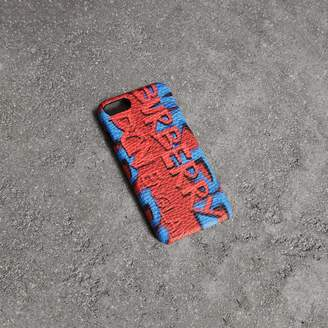 Burberry Graffiti Print Leather iPhone 8 Case
