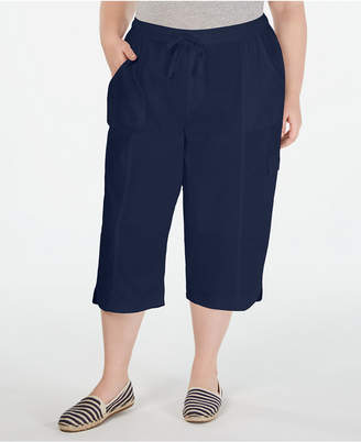 Karen Scott Plus Size Cotton Edna Capris
