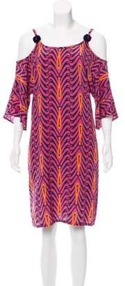 Figue Silk Cold-Shoulder Dress