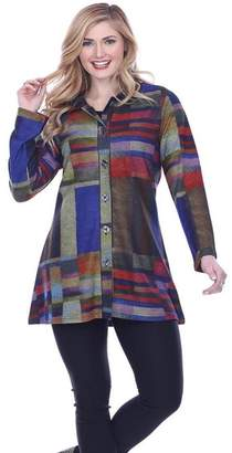 Parsley & Sage Colorful Button-Up Tunic