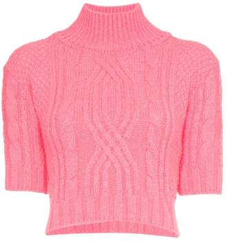 Cap morgane chunky knit sweater
