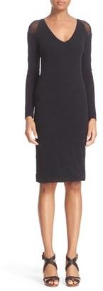 Women's Fuzzi Illusion Cold Shoulder Sheath Dress $320 thestylecure.com