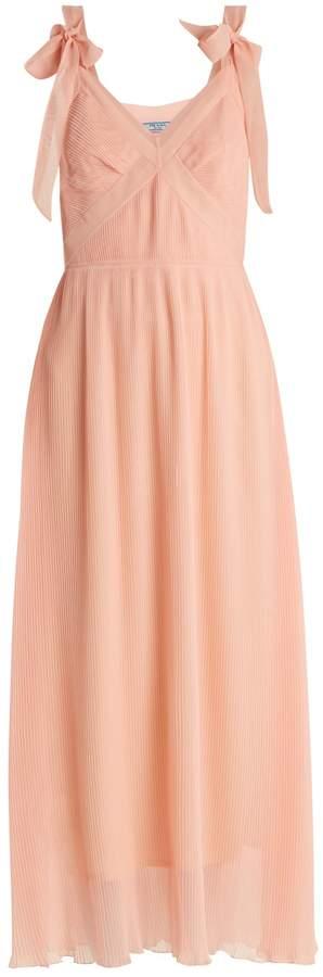 PRADA V-neck pleated dress
