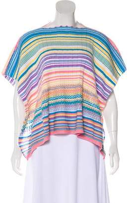 Missoni Patterned Crew Neck Poncho w/ Tags