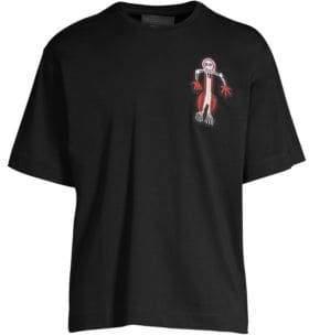 Diesel Black Gold Little Man Crew Embroidery T-Shirt