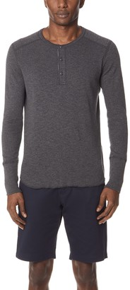 Wings + Horns 1x1 Slub Long Sleeve Henley