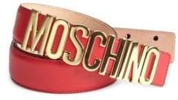 Moschino Logo Buckle Belt