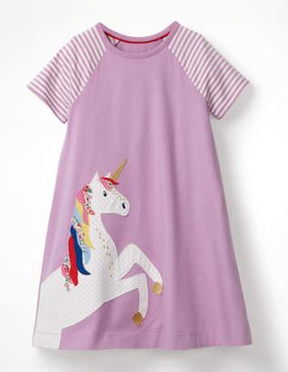 Boden Unicorn Applique Jersey Dress