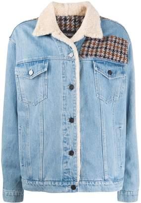 Simonetta Ravizza Caio herringbone panelled denim jacket