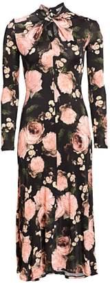 Erdem Nolene Floral Midi Dress