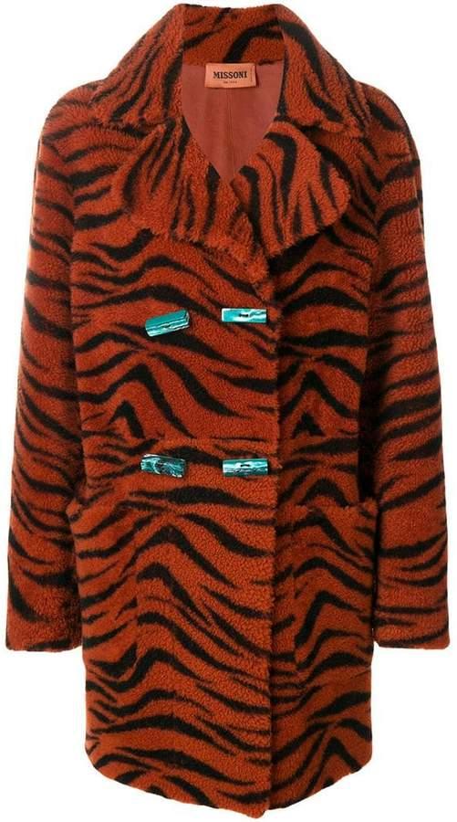 tiger print coat
