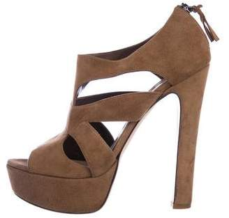 Miu Miu Suede High-Heel Sandals