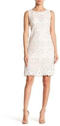 Eliza J Sleeveless Lace Shift Dress