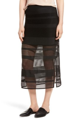 Women's Trouve Stripe Mesh Skirt $69 thestylecure.com