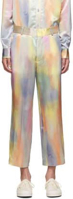 Sies Marjan Multicolor Satin Alex Cropped Trousers