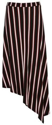 Evans Black Striped Asymmetric Skirt