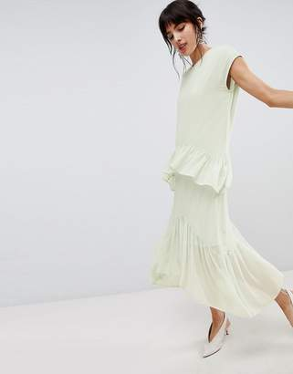 Vero Moda Layered Frill Midi Dress