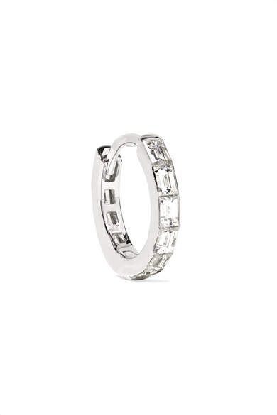 Maria Tash - 18-karat White Gold Diamond Hoop Earring