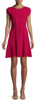 French Connection Katie Lace-Up Crepe Dress