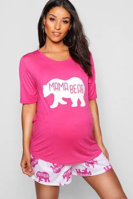 boohoo Maternity Mama Bear Cute PJ Set