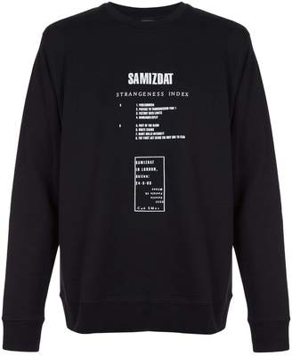 Yang Li graphic print sweatshirt