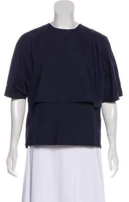 The Row Short Sleeve Woven Top