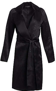 St. John Women's Silk Organza Belted Sequin Jacket