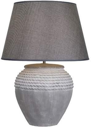 Antique Effect Ceramic Rope Table Lamp
