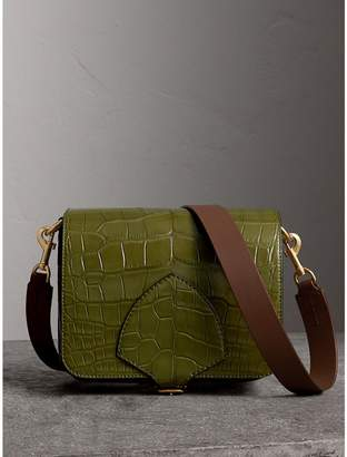 Burberry The Square Satchel in Alligator