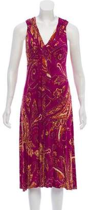 Etro Sleeveless Paisley Print Dress
