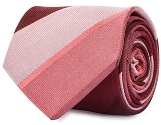 Paul Smith Berry Striped Silk Twill Tie