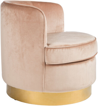 Statements By J Betty Brass Base Tube Chair