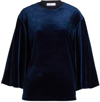 Toga Flared-sleeves velvet top