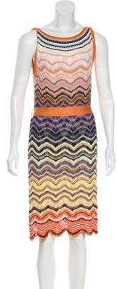 Missoni Tie-Accented Knee-Length Dress