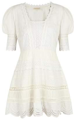 LoveShackFancy Kristen Eyelet-embroidered Cotton Dress