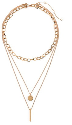 BP Plate, Disc & Chain Layered Necklace