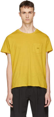 Second/Layer Yellow Spiral Pocket T-Shirt