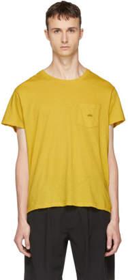 Second/Layer Yellow Spiral Pocket T-Shirt