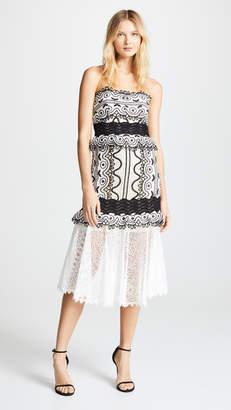 8b577442db5f Sea Lola Lace Strapless Midi Dress