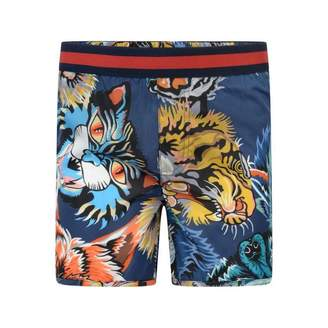 Gucci GUCCIBoys Blue Animal Faces Swim Shorts