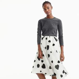 J.Crew Organza skirt in heart print