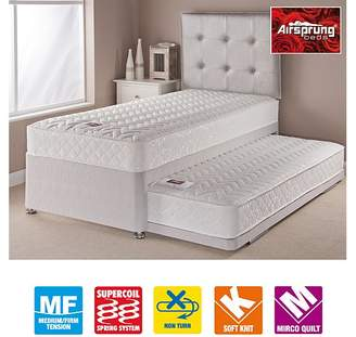 Airsprung Aspen Guestbed Silver - With 2 Sprung Mattresses