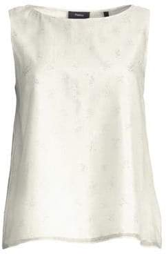 Theory Embellished A-Line Sleeveless Top