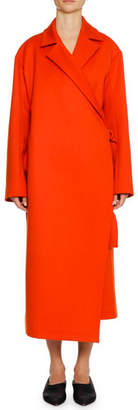 Jil Sander Belted Wool/Cashmere Wrap Coat