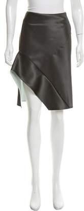 Narciso Rodriguez Asymmetrical Silk Skirt w/ Tags