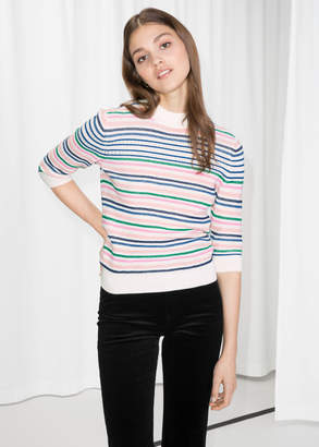 And other stories Cotton Multi-Stripe Sweater