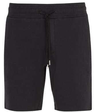 Frescobol Carioca Straight Leg Cotton Blend Shorts - Mens - Black