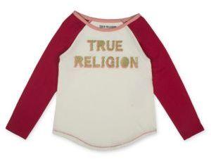 True Religion Girl's Colorblock Logo Tee $45 thestylecure.com