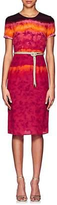 Altuzarra Women's Tie-Dyed Silk Midi-Dress - Ceramic Red