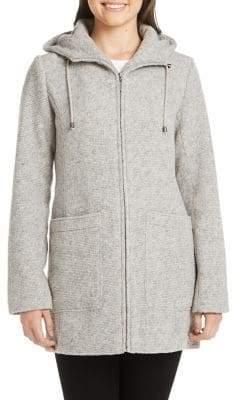 Weatherproof Duffle Wool Blend Hooded Coat